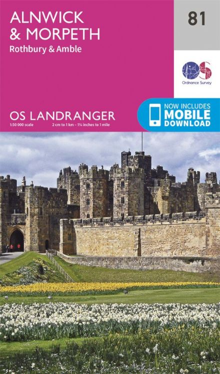 OS Landranger 81 Alnwick and Morpeth
